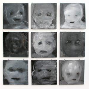 Sonja Schumacher, 3x3 ist neune, 2015, 9 x 40 x 40 cm