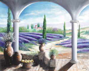 Bruno Studt - Provence - Lavendelfelder, Öl