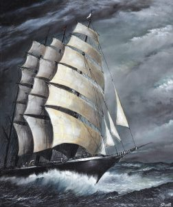 Bruno Studt - Segelschiff Pamir, Öl