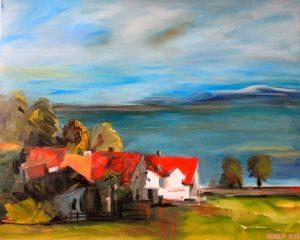 Am Bodensee_100 x 80 cm_Acryl