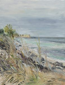 Ute Meyer - Borgnaes Bucht, Öl a.Lw., 90x70