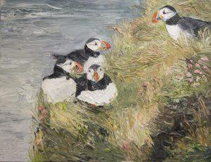 Ute Meyer - Papageientaucher, Öl a.Lw., 70x90