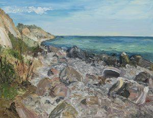 Ute Meyer -Tranderup Strand, Öl a.Lw., 70x90
