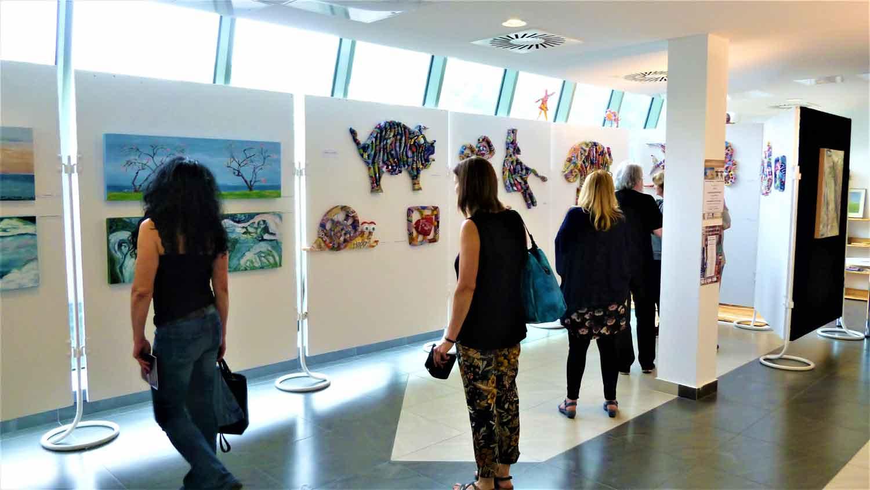 Teilansicht Der Kunstvereins-Ausstellung