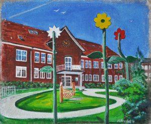 WIR Anna Brecht, Kindergarten, Steinbeker Hauptstr. Acryl auf Jute
