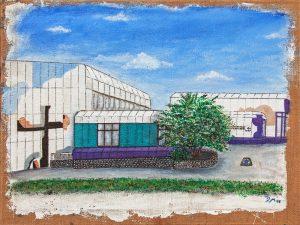 WIR Dagmara Michaliczak Ev. Gemeindezentrum Mü-berg 80 x 60 Acryl auf Jute