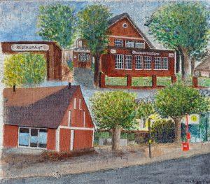 WIR Vera Briegert, Öjendorfer Landhaus 80 x 70 Acryl auf Jute