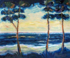 Berauschtes-Ufer,-Öl-auf-Leinwand,-2010-50-x-60-cm