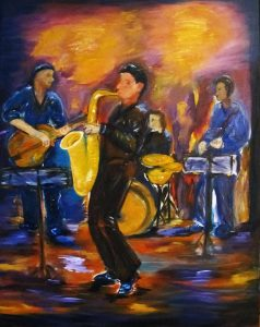 Blue-Jazz-1-Öl-auf-Leinwand-2013--100x80-cm