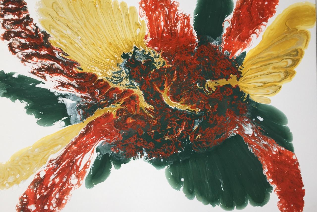 Margit Buß,-.- WN 267, 2018, Acryllack_Resin_Leinwand,100x140 cm Kopie