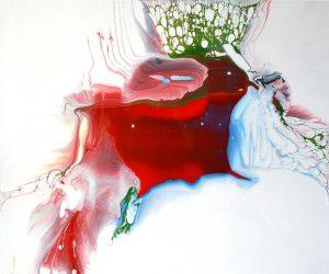 Margit Buß, WN 210,2017, Acryllack_Resin Leinwand,100x120 cm Kopie-1