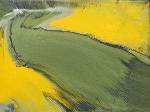 Margit Buß, WN 397,2020, Acryllack_Resin Leinwand,18x24 cm Kopie